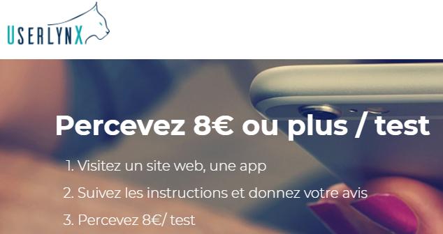 Userlynx : gagner de l'argent en testant des applications